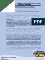 Ordenanza Municipal N°  018-PROCESO DE ADECUACION DE CP