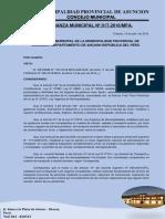 Ordenanza Municipal N°  017
