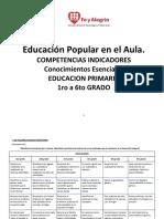 Competencias Indicadores Conoc Esenciales 1°-6° SILVIA FE Y ALEGRIA