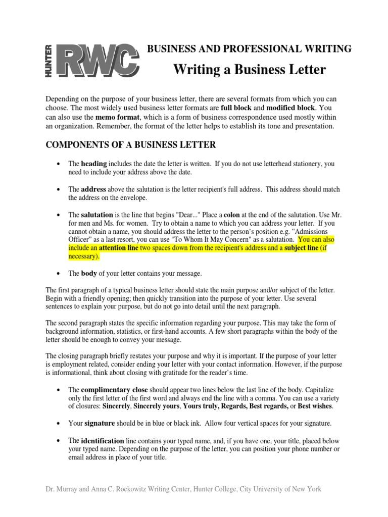 Salutation On A Business Letter from imgv2-1-f.scribdassets.com
