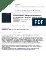 Modelo determinista de prediccion de rendimiento para la rehabilitacion y gestion de pavimentos flexibles