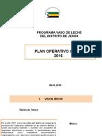 Propuesta Del Plan de Trabajo Del Vaso de Leche