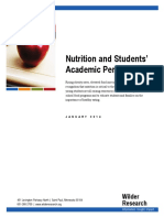 nutrition and students academic performance