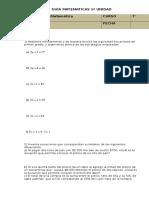 Pruebas y Guias Matematicas 7 Basico 2016