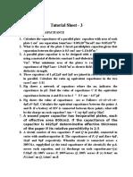 Tutorial Sheet - 3
