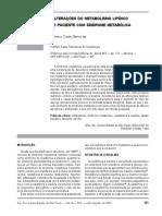 Alterações Do Metabolismo Lipídico No Paciente Com Síndrome Metabólica