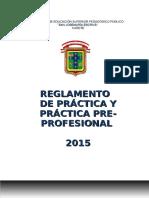 Reglamento de Práctica 2015