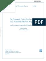 Do Economic Crises Lead to Health PSM