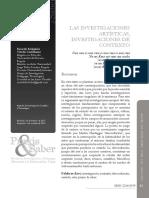 Las investigaciones artisticas investigaciones de RT Praxis y saber N° 6.pdf
