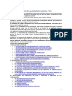 Síntesis de La Legislación Laboral Perú