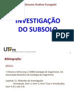 Aula 12 - Investigação Do Subsolo III