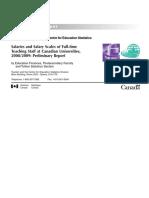 Salary in Canadian Varsities