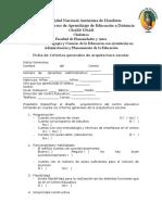 Ficha de Criterios Generales de Arquitectura Escolar