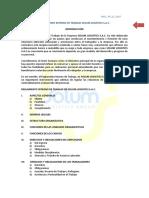 Modelo Reglamento Interno de Trabajo - Solum Logistics