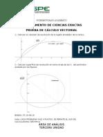 Exámenes Cálculo Vectorial Unidad 1