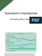 Exportacion e importaciones de carne ovina