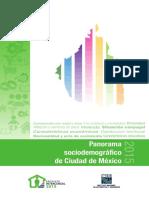 Panorama Sociodemografico Ciudad de México