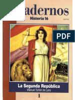 Cuadernos Historia 16, nº 001 - La Segunda República.pdf
