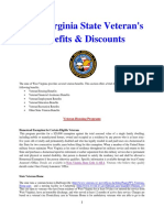 Vet State Benefits & Discounts - WV 2017