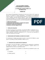 Acta Final Liquidacion