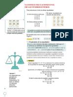 Igualdades, Ecuaciones e Inecuaciones en El Conjunto de Los z