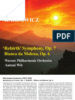 Mieczysław Karłowicz - Symphony in E minor Op. 7, Bianca da Molena Op. 6 CD booklet