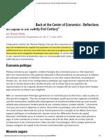 La Leçon d'Économie de Thomas Piketty _ Alternatives Economiques