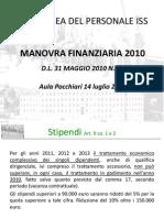 Assemblea ISS del 14.07.10 - Manovra finanziaria 2010