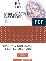 Tutorial 9 Trauma Stressor Related and Dissociative Disorder