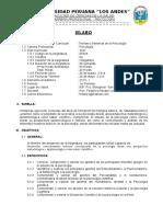 Sílabo Teorias y Sistemas de La Psicología 2013