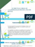 Guía de Práctica Clínica de Termorregulación en El