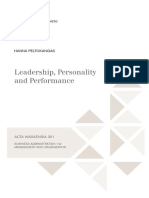 Leadership, Personality and Performance