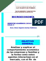 SEMANA 1 MicroEconomía 2016-II