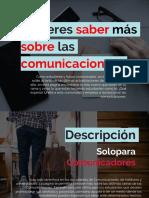 Texto Promocional – Solo Para Comunicadores