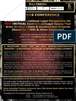Masters Conference - Critical Contractual and Legal Issues - FIDIC and Other Contracts Based on Polish and International Law