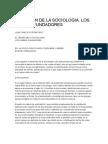 El Origen de La Sociologia - Los Padres Fundadores