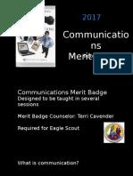 communications merit badge