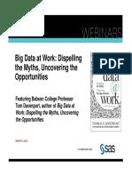 Big Data Mythos