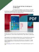 Xiaomi Mi Max 2 Sẽ Có Màn Hình Lớn Tới 6.44 Inch, Pin 5000 MAh