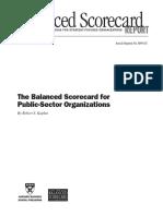 Balanced Scorecard for Public Sector Organizations HBR 111599