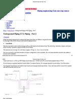 Underground Piping (U_G) Piping - Part 2