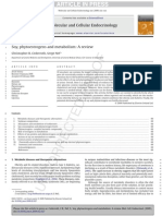 Soy, Phytoestrogens and Metabolism a Review [Volume] Molecular and Cellular Endocrinology [Issue]