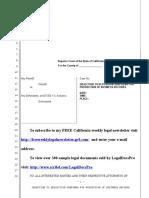 Sample Objection to Deposition Subpoena for California