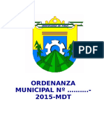 Ordenanza Municipal - Fernando Muni