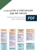 Evaluación e Intervención Psp Del Calculo
