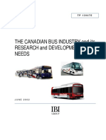 The Canadian Bus Industry and Its Research and Development Needs
