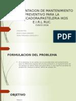 Implementacion de Mantenimiento Preventivo Para La Panificadora