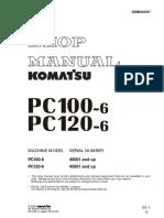 Manual de servicio Komatsu PC 100 y PC120