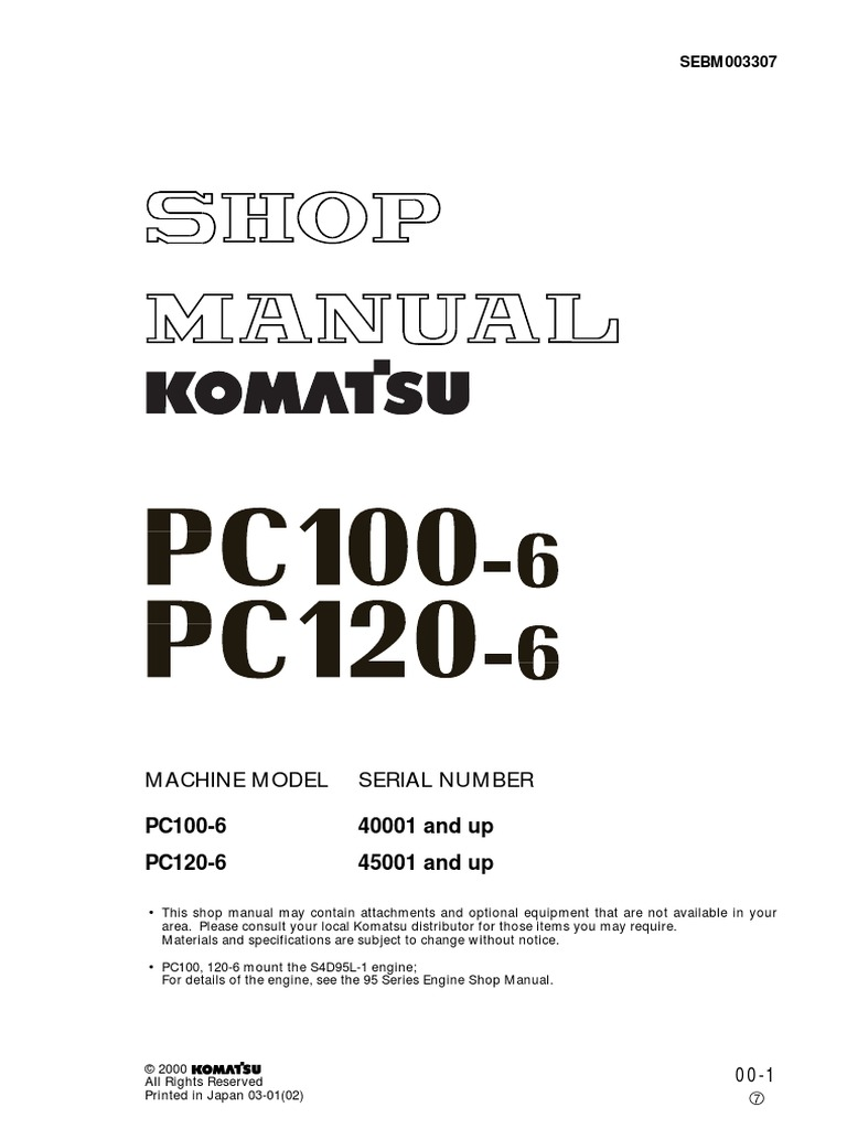 Komatsu Pc100 Battery Wiring Diagram Free Download Fg Forklift 30011 Manual De Servicio Pc 100 Y Pc120 Troubleshooting Lt Pc210 At