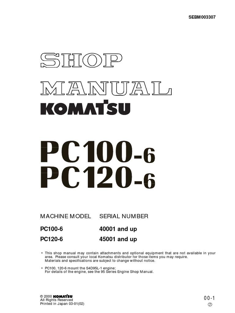 Komatsu Pc100 Battery Wiring Diagram Free Download D20 Manual De Servicio Pc 100 Y Pc120 Troubleshooting Gray Market Machine At